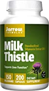 Jarrow Formulas Milk Thistle Standardized Silymarin Extract 30:1 Ratio, 150 mg per Capsule, 200…
