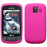 Cbus Wireless Hot Pink Silicone Case / Skin / Cover for LG Optimus S LS670 / Optimus U / Optimus V VM670