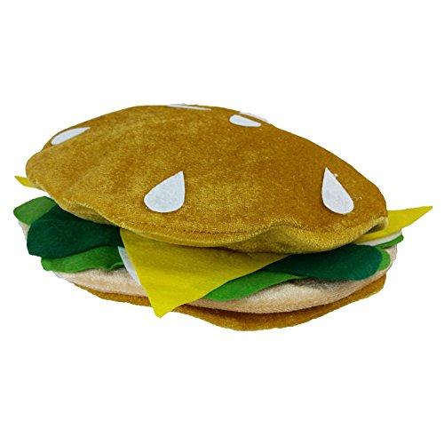 Hamburger Hat - Funny Plush Hamburger Hat