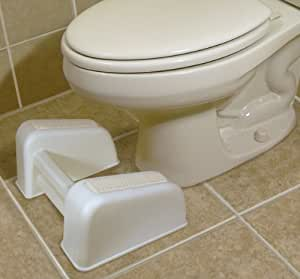 RE-LAX TOILET FOOT REST ENCOURAGES SQUATTING POSTURE FOR EASIER AND MORE COMFORTABLE BOWEL MOVEMENT
