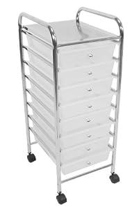 Premier Housewares 8-Drawer Storage Trolley -  White