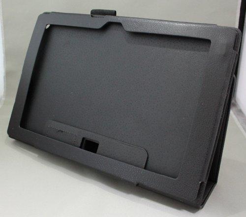 Homu HomuXperia Tablet Z SO-03E全11色PUレザーケース PUレザーカバー エクスペリアタブレットZ レザーケースレザーカバースタンド機能付 ペンホルダー付/SGP312JP (ブラック)(24-1)