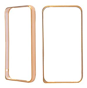 Mercury View Bumper Case(Golden) With Free Tempered Glass For Micromax YU YUREKA AO5510