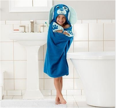 Children's Hooded Bath Beach Towel Puppy Dog by Jumping Beans - 1