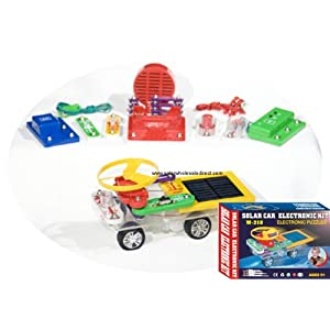 Solar Car and Electronic Science Kit. 218 electronic snap-on modes of solar car, solar radio, solar charger, solar lights...