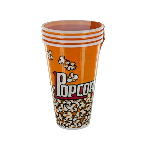 Yellow Popcorn Bucket Cups Set-Package Quantity,16