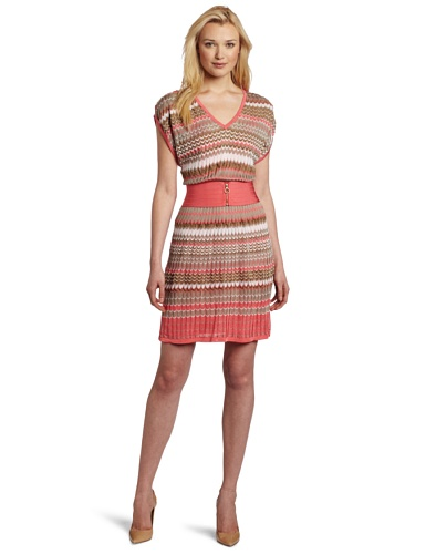 Laundry by Shelli Segal Women's Multi Stitch Sweater Dress