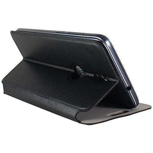 Molife Flip Cover For Swipe Elite Plus Leather Case (Black)