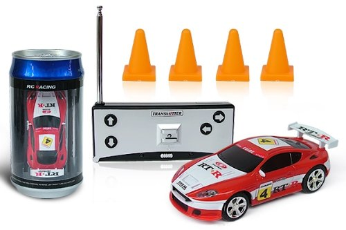 41nqc%2B30UkL Digital Additions® Micro Remote Control RC Car in a Coke Can 1:64 Scale (Red/White) 27 MHZ