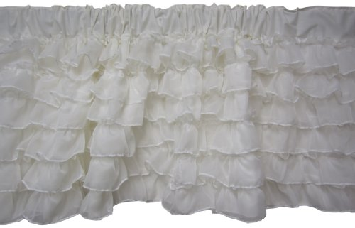 Baby Doll Layered Window Valance, White