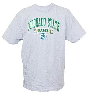 Buy Colorado State Rams Genuine Stuff Grey Short Sleeve T-Shirt (Size Large) by Genuine Stuff