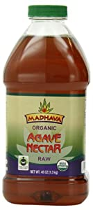 Madhava Organic Agave Nectar, Raw, 46 Ounce (Pack of 2)