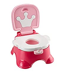 Fisher Price Princess Step Stool Potty (Multicolor)