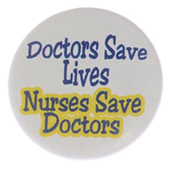 Amazon.com: A&T Designs Unisex - Doctors Save Lives Nurses