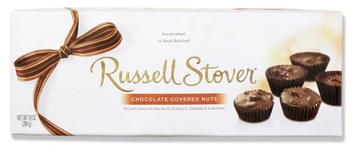 Russell Stover Chocolate Covered Nuts, 10-Ounce Boxes (Pack of 3)