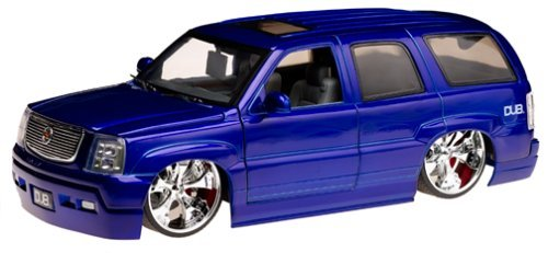 Cadillac Escalade Dub City Big Ballers 1:18 Diecast Model Vehicle - Blue