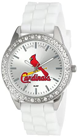Game Time Ladies MLB-FRO-STL Frost MLB Series St. Louis Cardinals 3-Hand Analog Watch by Game Time