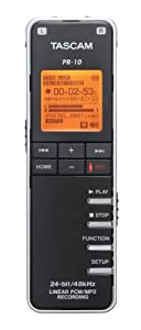 TASCAM PR-10 Portable Digital Audio Recorder (Black)