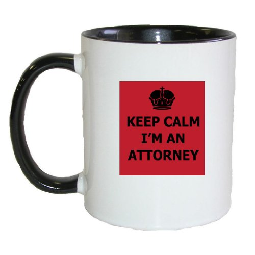 Mashed Mugs - Keep Calm I'M An Attorney - Coffee Cup/Tea Mug (White/Black)
