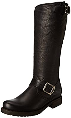 Frye Women's Veronica Slouch Boot,Black Soft Vintage Leather,5.5 M US