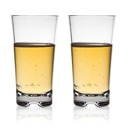 MICHLEY Classique incassables Gobelets Eau, Restaurant-qualité des verres en plastique verres d'eau,35 cl ensemble de 4