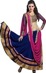 Texstile Women's Georgette Lehenga Choli (pc 001_neavy blue_Free Size)