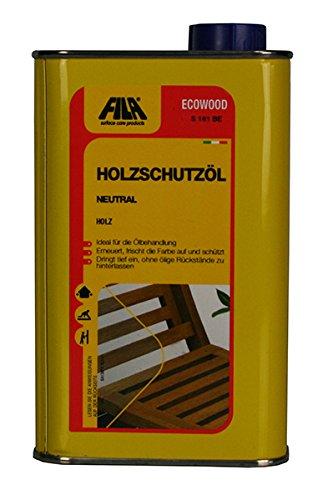 FILA ECOWOOD Holzschutzöl neutral natürliches Holzschutzmittel für Innen und Außen 500 ml. für bis zu 10 qm günstig online kaufen