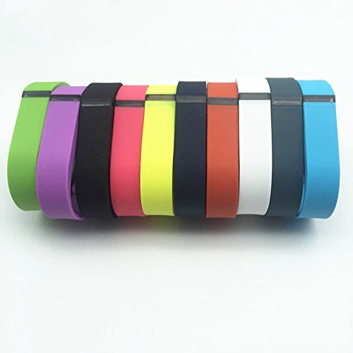 JOMOQ Small 10pcs Replacement Bands /No Tracker/ Wireless Activity Bracelet Sport Wristband Fit Bit Flex Bracelet Sport Armband(white,yellow,black,navy,slate,light Purple,rose,tangerine,lime,teal)