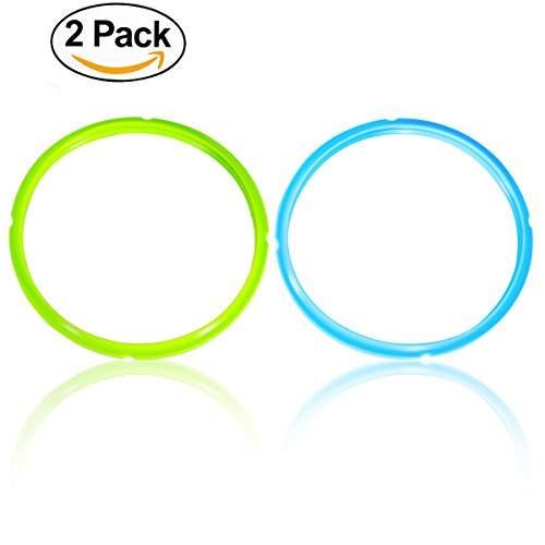 Instant Pot Sealing Ring , New, Seal Lasting & BPA-free , Instant Pot Pressure Cooker Accessories, 2 Packs , SWEET and SAVOURY Edition, Friendly With Cookbook,Lid,Pot and Steamer,Blue and Green (Pot Accessories compare prices)