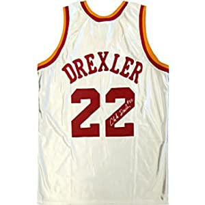 Clyde Drexler Autographed Signed Houston Rockets Jersey by Hollywood Collectibles