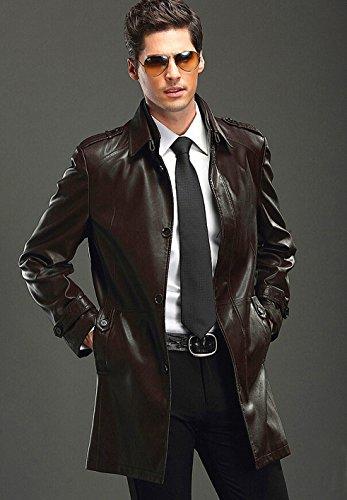 ウインドブレーカー.ダスター・コート.本革ジャケット、ブルゾン、メンズジャケット、メンズコート、メンズレザージャケット、ミンクコート、男コート、本革コート、革コート、ブラックコート、ブラウンコート、ダウンコート、 防寒 ラクーン、M,L,XL,XXL.XXXL (XXXL(身丈190cm) バスト126cm、袖丈65cm、肩幅54cm、着丈76cm, ブラック ¥18998)