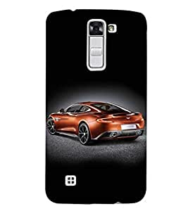 Fuson Premium Orange Sports Car Printed Hard Plastic Back Case Cover for LG K7