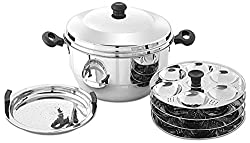 Embassy Stainless Steel Idli Maker / Pot With Steamer, 24 Idlis