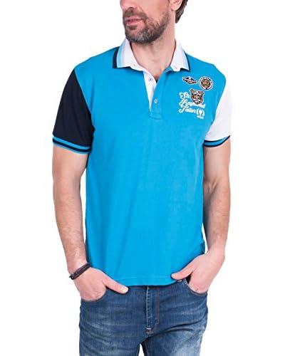SIR RAYMOND TAILOR Polo Shirt Short Sleeve Stroke TURQUESA