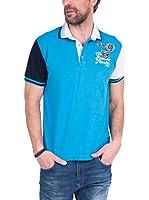 SIR RAYMOND TAILOR Polo Shirt Short Sleeve Stroke (TURQUESA)