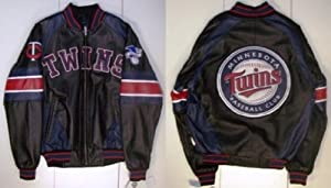 Minnesota Twins Leather Jacket by MLB