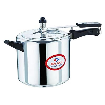 Bajaj Majesty Pressure Cooker, 5 Litres, Sliver