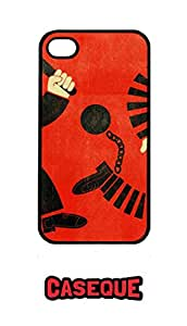 Caseque Crime Hindrance Back Shell Case Cover For Apple iPhone 4/4S