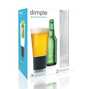 Dimple Beer | Self-chilling Pint Glassware (Set of 2) | Soireehome by Soireehome