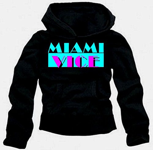 Miami Vice - Sweatshirt mit Kapuze - Hoodie SCHWARZ Gr.M hier kaufen
