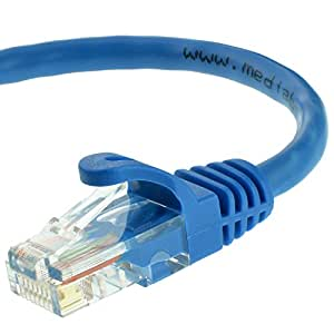 Mediabridge Cat5e Ethernet Patch Cable (25 Feet) - RJ45 Computer Networking Cord - Blue