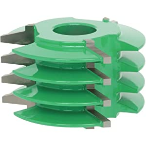 Grizzly C2124 Shaper Cutter with Finger Joint and 3/4-Inch Bore