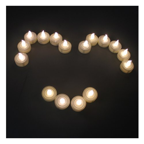 Agptek® Battery-Operated Flamess Tea Light Candles, Warm White, 60 Pcs