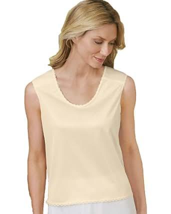 Velrose All-Nylon Padded-Shoulder Camisole, Beige, Small - Misses, Womens