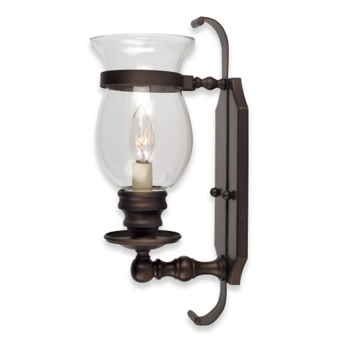Royce Lighting RW2195/1GLS/ORB Stalton Hurricane-Globe 60-Watt Wall-Bracket Light, Oil Rubbed ...