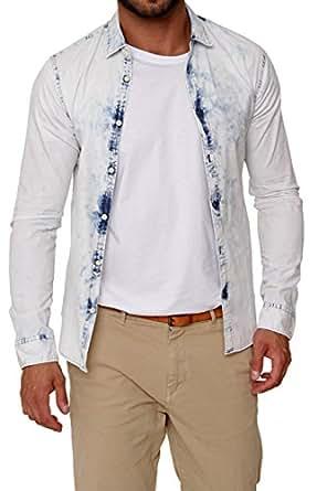 Amazon.com: Scotch & Soda Amsterdams Blauw Denim Shirt SLIM FIT INDIGO