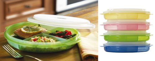 Divided Microwave Plates With Lids