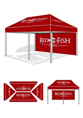 Eurmax Premium 10X20 Pop Up Canopy Custom Event Tent Quick Gazebo With Backwall Imprinted Both Interior And Exterior W/ Roller Bag front-891310