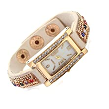 buy Women Geneva Rhinestone Square Dial Quartz Wrist Watch, Watch 2