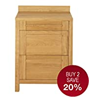 Sonoma Light 70cm Kitchen 3-Drawer Base Unit